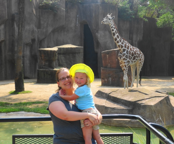 Mama, Allie and giraffe
